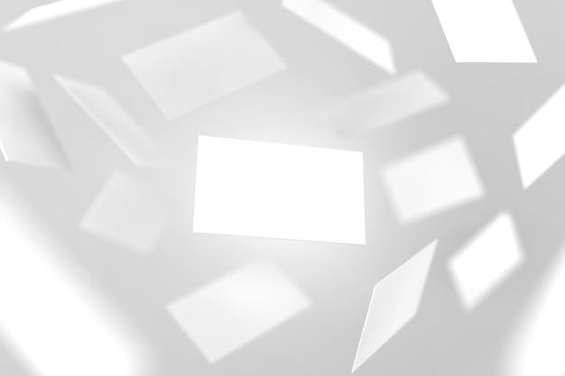 Blanco visitekaartjes vallen