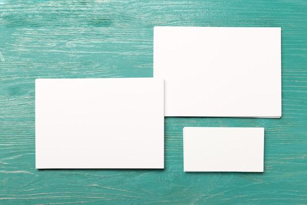 Blanco visitekaartjes