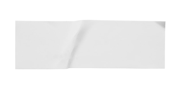 Blanco wit papier sticker label geïsoleerd op een witte achtergrond