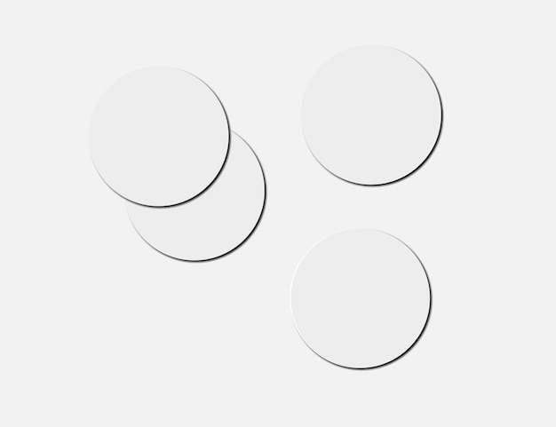 Blanco witbier onderzetters op papier