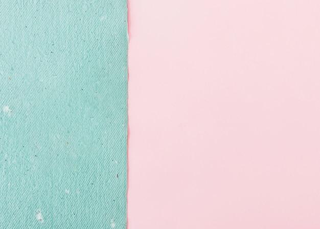 Blauw ambachtelijk papier