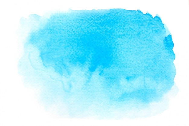 Blauw aquarel verf achtergrond textuur ontwerp