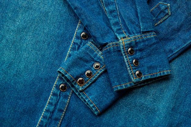 Blauw denim shirt