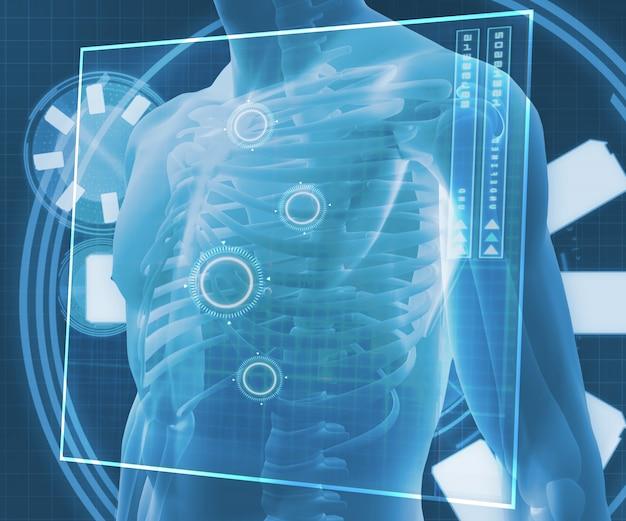 Blauw digitaal lichaam