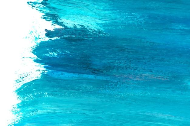 Blauw en blauwgroen penseelstreek gestructureerde achtergrond