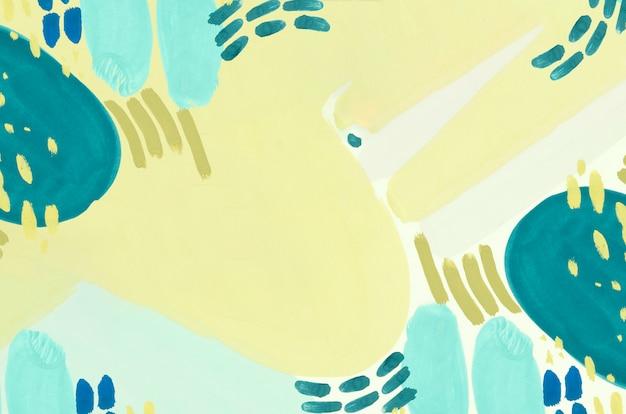 Blauw en geel minimalistisch schilderij