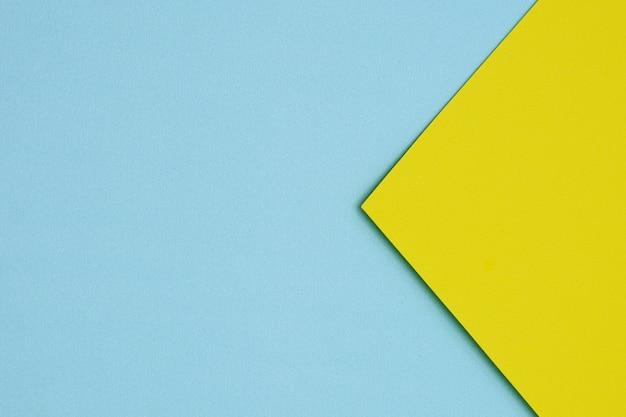 Blauw en geel papier textuur achtergrond