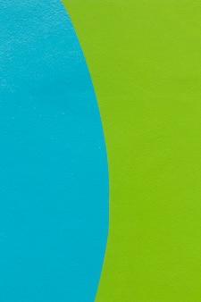 Blauw en groen muurontwerp