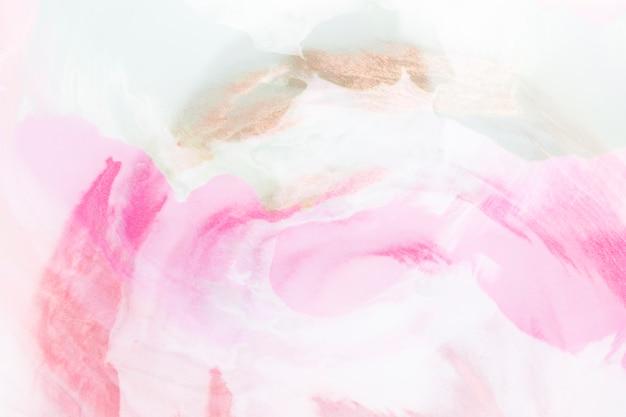 Blauw en roze abstract handgeschilderd patroon op canvas