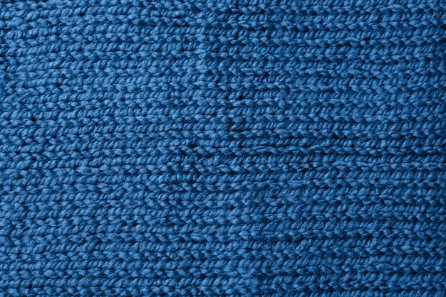 Blauw gebreid jersey als textielachtergrond