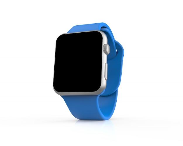 Blauw generiek slim horloge