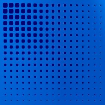 Blauw geperforeerd paneel. 3d illustratie