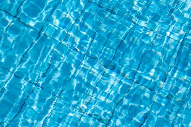 Blauw gescheurd water