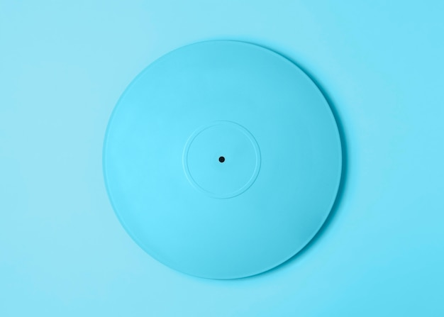 Blauw geschilderd vinyl arrangement