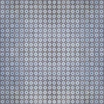 Blauw hydraulisch tegelspatroon