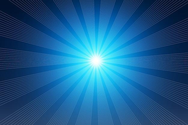 Blauw licht stralen