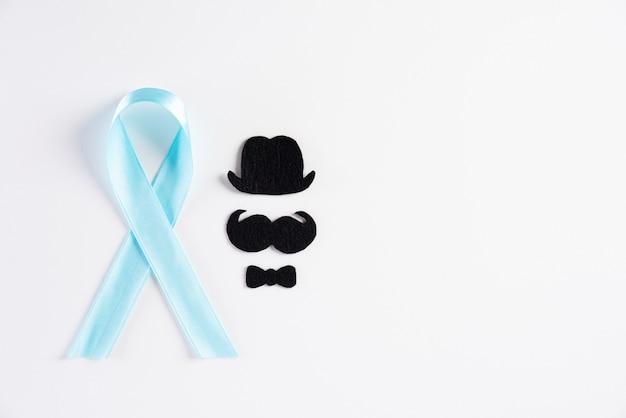 Blauw lint voor de maand november om de gezondheid van mannen te vergroten