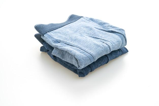 Blauw mannen ondergoed geïsoleerd op een witte achtergrond