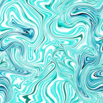 Blauw naadloos marmeren patroon