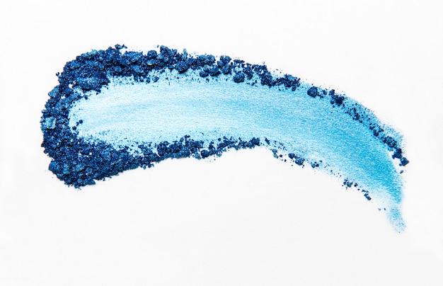 Blauw oogschaduw verpletterd palet