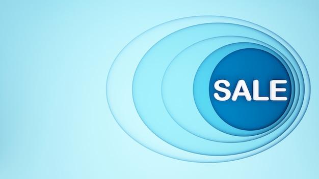 Blauw ovaal met blauwe cirkel voor kunstwerkachtergrond