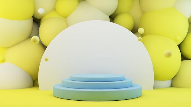 Blauw platform voor productpresentatie