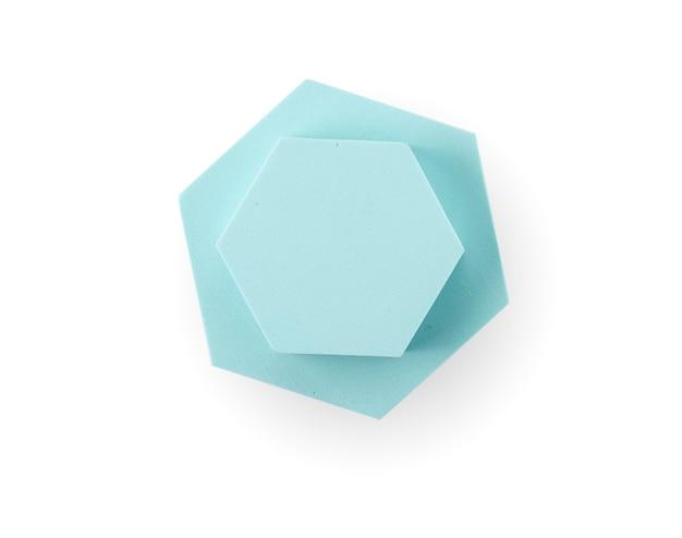 Blauw podium voor productpresentatie - bovenaanzicht