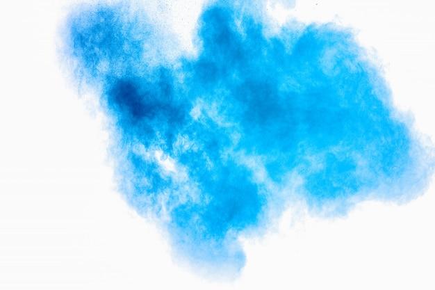 Blauw poeder explosie