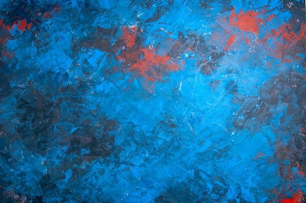 Blauw rood behang