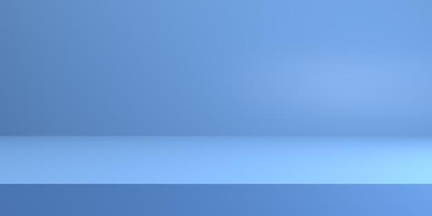 Blauw schoon podium voor productvitrine