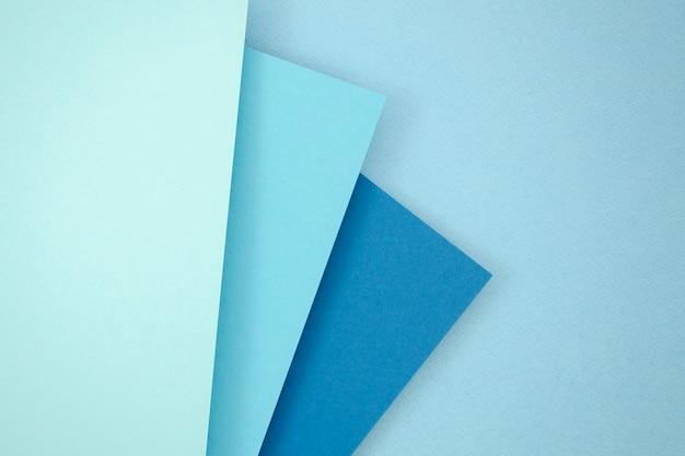 Blauw stapel veelhoek papieren ontwerp
