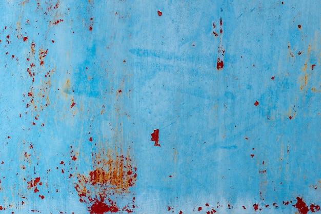 Blauw stof en gekraste gestructureerde achtergronden met ruimte.