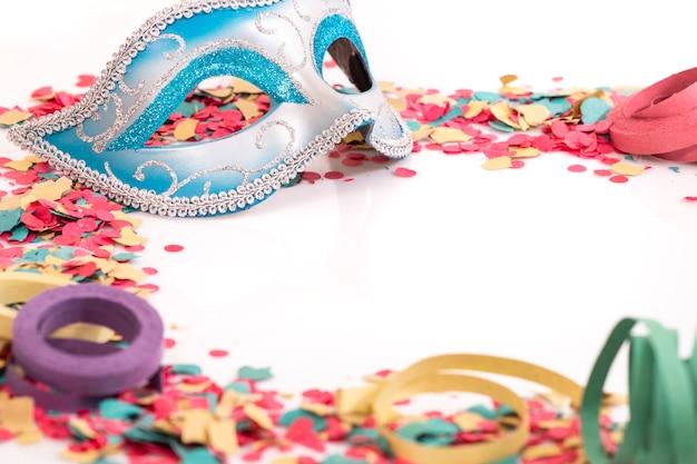 Blauw venetiaans masker
