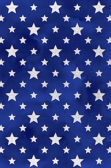 Blauwe 4 juli achtergrond, aquarel digitaal papier, patriottische sterpatroon
