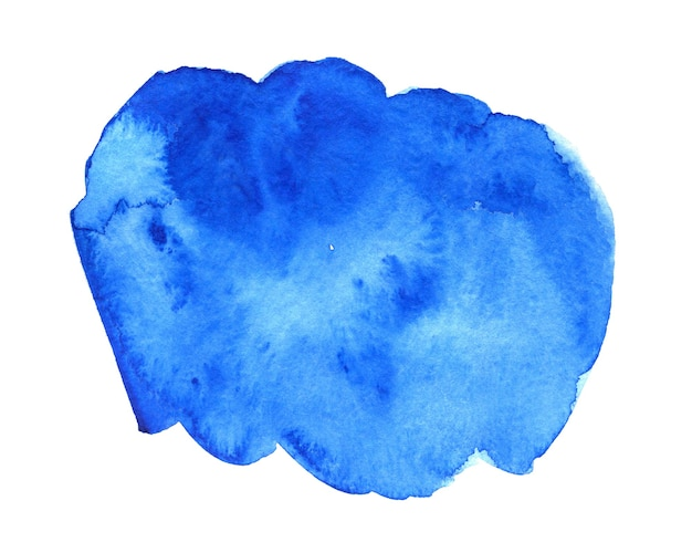 Blauwe abstracte hand getekende aquarel achtergrond voor tekst of logo aquarel clipart
