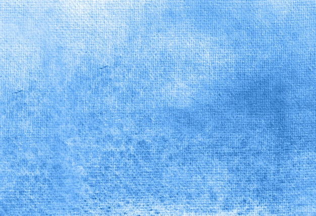 Blauwe abstracte pastel aquarel handgeschilderde achtergrondstructuur.