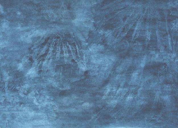 Blauwe abstracte stropdas kleurstof aquarel achtergrond, handgeschilderde aquarel illustratie