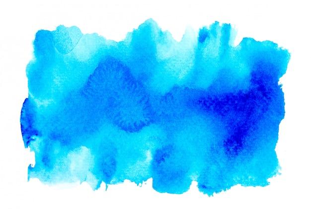 Blauwe abstracte waterverfachtergrond.