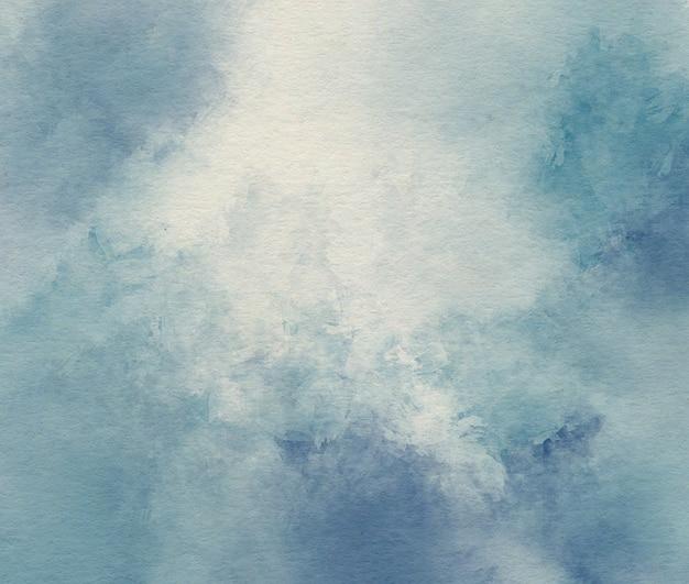 Blauwe aquarel abstracte achtergrond