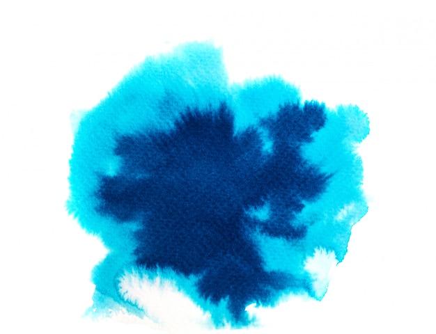 Blauwe aquarel achtergrond. kunst hand verf