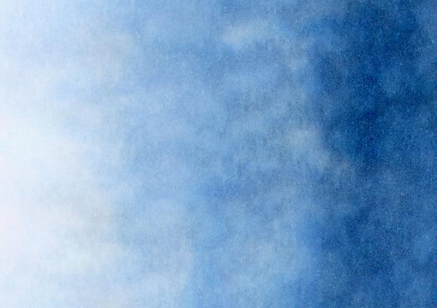 Blauwe aquarel achtergrond met kleurovergang