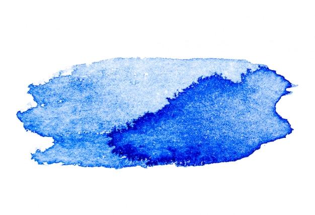 Blauwe aquarel kwast