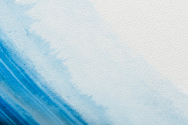 Blauwe aquarel penseelstreek vector