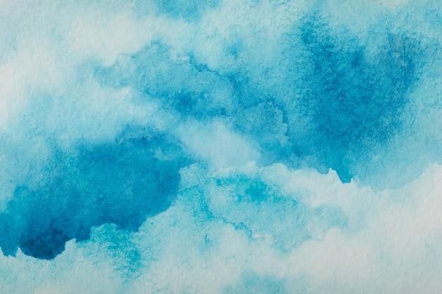 Blauwe aquarel splash beroerte achtergrond. door te tekenen