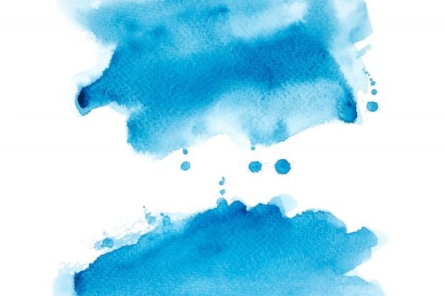 Blauwe aquarel vlek met kleurtinten penseelstreek