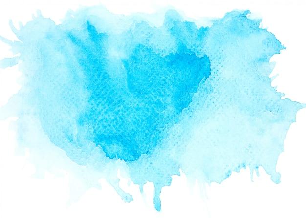 Blauwe aquarel vlek tinten penseelstreek