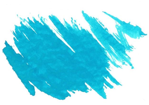 Blauwe aquarel vlek