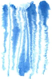 Blauwe aquarel zebra strepen patroon - raster illustratie