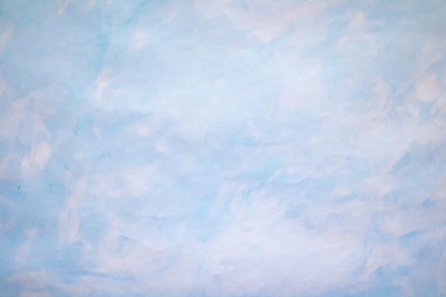 Blauwe azuurblauwe handgetekende achtergrond aquarel sky handmade de textuur is in de vorm van de lucht