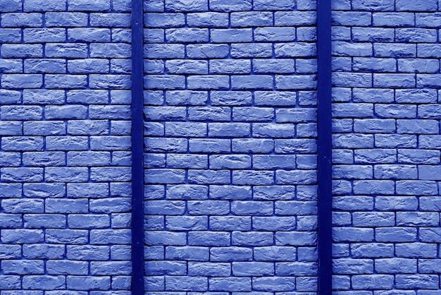 Blauwe bakstenen bouwmuur. interieur van een moderne loft. achtergrond voor ontwerp